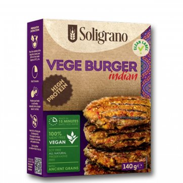 SOLIGRANO Vegan Burger Ινδικό