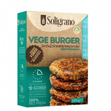 SOLIGRANO Vegan Burger Μεσογειακό