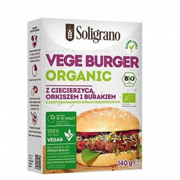 SOLIGRANO Vegan Burger Βιολογικό